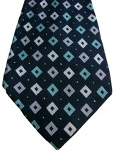 PAUL SMITH Tie Black – Green & Grey Diamonds EXTRA WIDE - $22.14