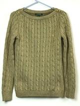 Lauren Ralph Lauren Women's Golden Cable Knit Long Sleeve Sweater Sz Medium - $29.65