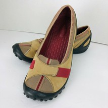 Clarks Privo Moccasin Flats Womens Size 7 M Brown Leather Mesh Slip Ons ... - $39.59