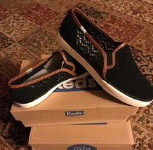 Keds Double Decker Crochet Black Women's Shoes Size 10 Brand New With Box - $28.49