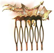 Nina Women's Prema Gold Finish Swarovski Multi-Star Wedding Bridal Hair Comb NWT image 3