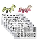Nail Art Stamper and Scraper - DAODER 7PCS Stamping Plates with 1 Clear ... - $13.11