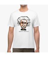 Gasby Man Funny Albert Einstein Genius Art Physic Science White T-Shirt ... - $13.85+