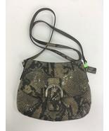 Coach Crossbody Bag Embossed Exotic Python Soho Flap Gray Brown Black 45... - $49.49
