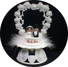 Adorable Mr & Mrs Wedding Cake Topper Bride Groom Top Heart Ornament cen... - $19.31