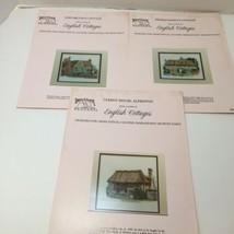 3 English Cottages Cross Stitch Pattern Books Down Under Designs Thomas ... - $19.34