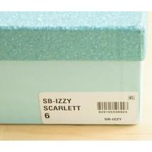 Betsey Johnson Izzy Black Red Satin Crystal Ankle Strap Stiletto Heels 6... - $93.56