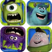 Monsters University Birthday Party Dessert Plates 8 ct Per Package NEW - $4.21
