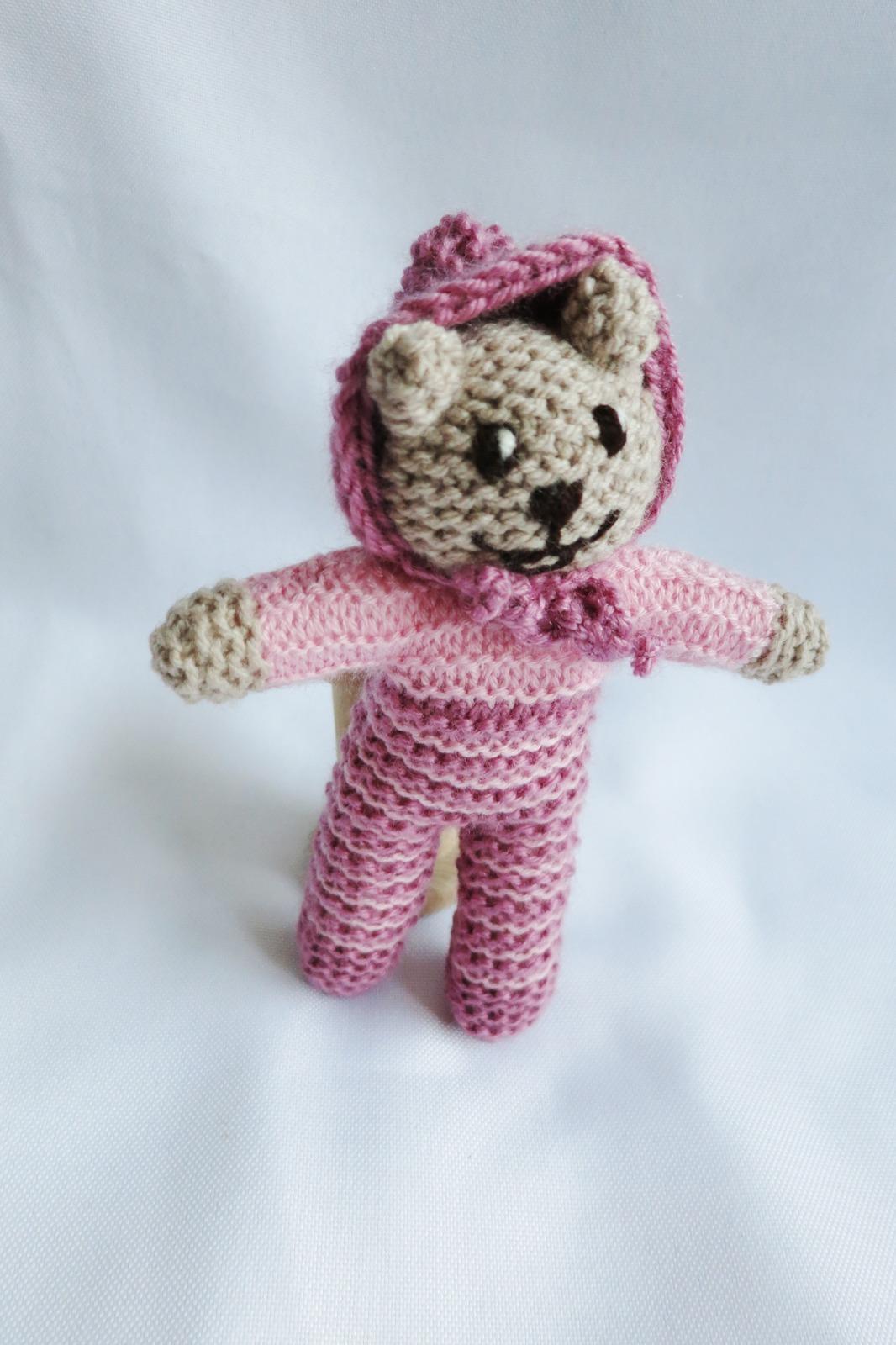 Pocket teddy bear Tim,handmade teddy bear toy,newborn gift, nursery decoration