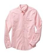 New Gap Men Slim Fit Casual Shirt Pink Size L - $32.72