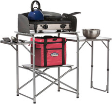 Camping Emergency Cooking Camp Outdoor Cook Station Grill Table Holder O... - $119.95