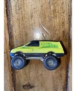 Vintage 1984 Hot Wheels Mattel Tall Ryder Neon Yellow GreenTruck Diecast - $1.97