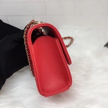 AUTHENTIC CHANEL 2019 RED CHEVRON LAMBSKIN TRENDY CC SQUARE SMALL FLAP BAG GHW image 4