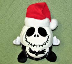 "DISNEY JACK SKELLINGTON SANTA PLUSH NIGHTMARE BEFORE CHRISTMAS 8"" ROUND ... - $14.03"