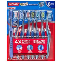 Colgate Total Whitening Toothbrush, Soft or Medium (8 pk.) - $22.86