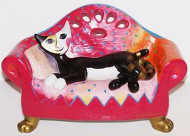 GOEBEL ROSINA WACHTMEISTER CAT ON SOFA KLEINE NACHTMUSIK MUSICAL FIGURINE - $75.73