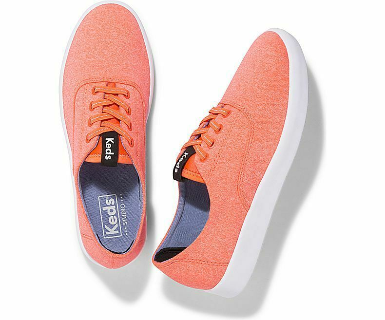 Keds WF58211 Women's Studio Leap Coral Shoes, 5 Med