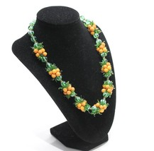 Vintage 1940's Venetian Glass Bead Fruit Salad Necklace - $199.00