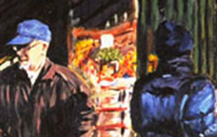 January Jog: Crossing (An Ooriginal Cityscape Painting of NY