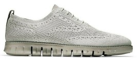 COLE HAAN ZEROGRAND WINGTIP OXFORD WITH STITCHLITE GREY SIZE 8 NEW (C262... - $114.95