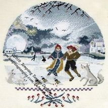 Wintery Moon In The Round cross stitch chart Tempting Tangles  - $13.50