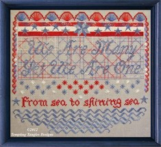 We Are One cross stitch chart Tempting Tangles  - $13.50