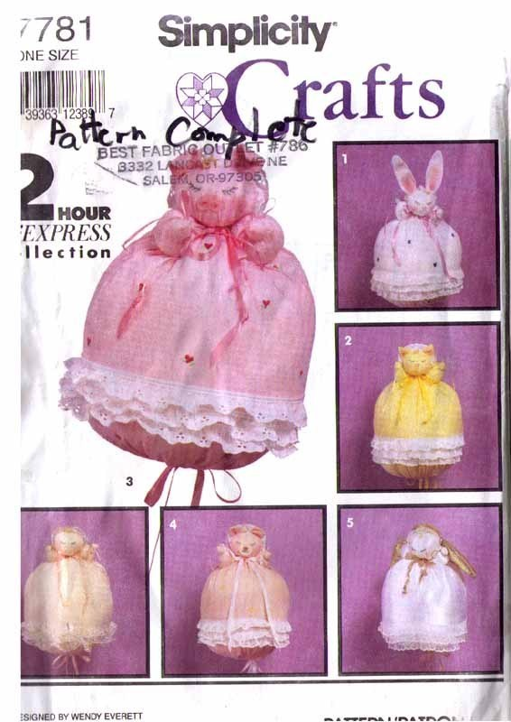 1992 Bunting Baby, Angel, Animals  Pattern 7781-s UNCUT