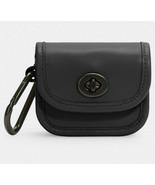 Coach heritage turnlock bag charm Key Fob Earbud Holder ~NWT~ Black C3163 - $67.32