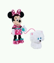 Just Minnies Walk Play Puppy Gift Plush Snowpuff Sings Sounds Talks Girl... - $60.78