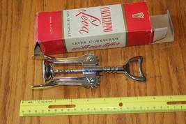 Cavatappo ein Leva Hebel Korkenzieher Hergestellt in Italien K 301 Model... - £8.43 GBP