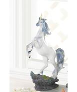 SPIRITED REARING WHITE UNICORN Storybook Fantasy Gift Figurine - $32.00