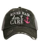 River Hair Don't Care ANCHOR Women's Trucker Hat Cap by Katydid - $23.17