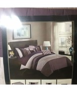 Queen Sized Chic Home Ayelet Bed In a Bag Comforter Set 10 Piece Plum - $77.39