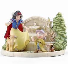 Lenox Disney Snow White's Charming Garden Fountain Figurine w/Dopey #868... - $124.90