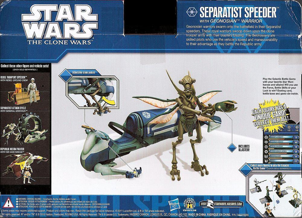 Star Wars Separatist Speeder vehicle w/ Geonosian Warrior Action figure