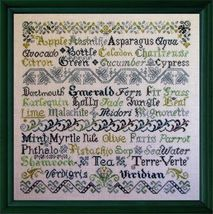 Verdant Variations cross stitch chart Tempting Tangles  - $13.50