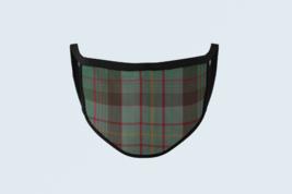 Clan Cochrane Hunting Tartan Face Mask Scottish Plaid Covering Green Red... - $12.86