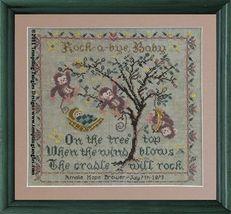 Tree Top Birth Sampler cross stitch chart Tempting Tangles  - $13.50