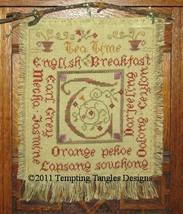 Tea Time cross stitch chart Tempting Tangles - $8.10