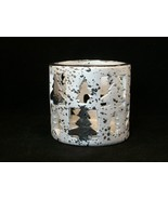 Ceramic Silver Tree Candle Holder - Great Christmas Item - New In Box! - $3.49