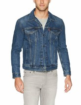 Levi's Men's Cotton Button Up Denim Jeans Trucker Jacket Mugito Blue 723340321