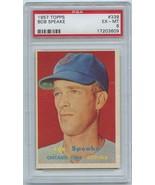 BOB SPEAKE (GRADED PSA 6 EX-MT) 1957 Topps #339 Chicago Cubs - $23.99