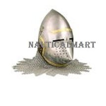 NauticalMart Bascinet Pig Faced Helmet With Chainmail  - $249.00