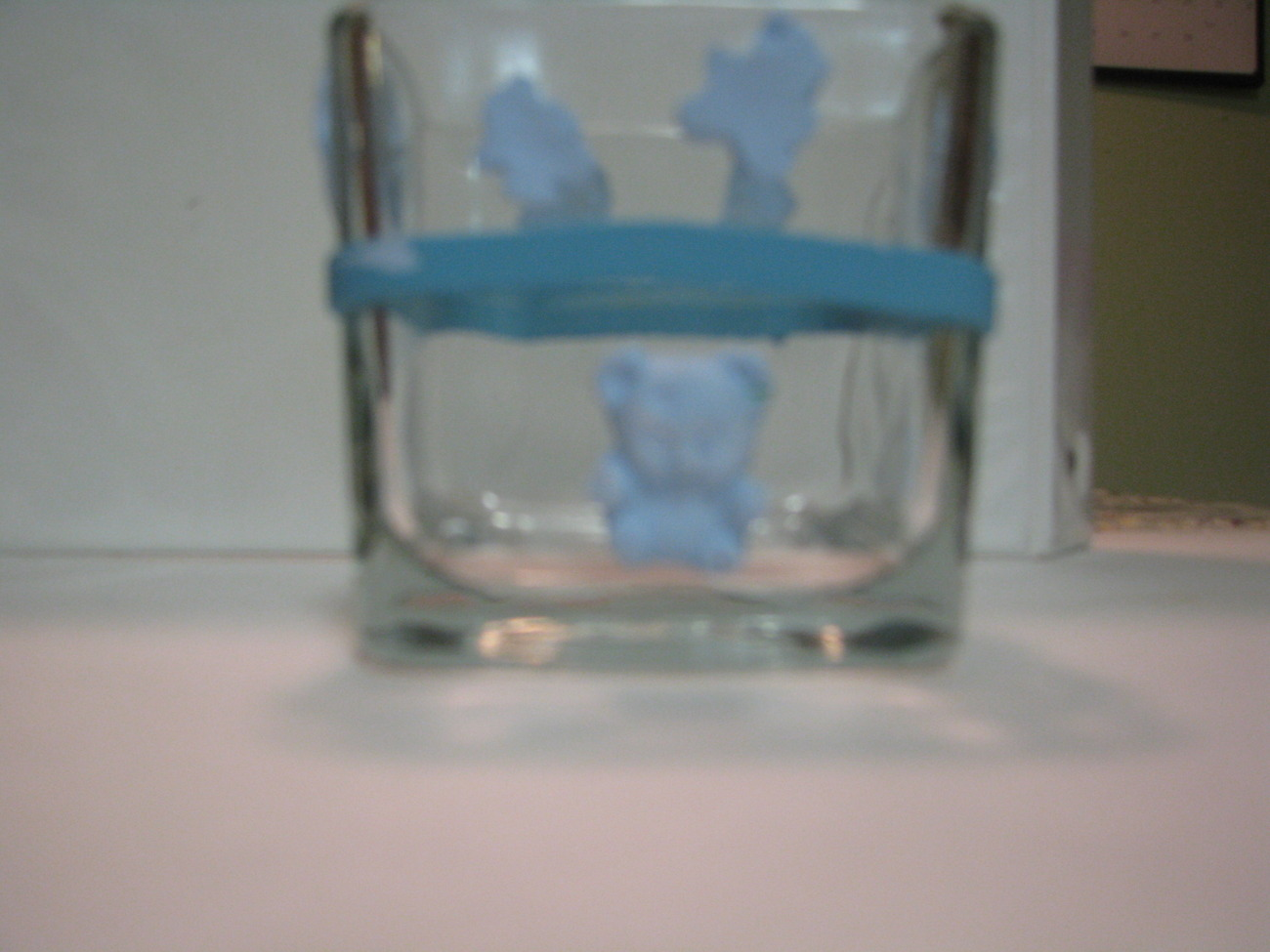 Blue  Baby Polymer Clay Changing Table Cube