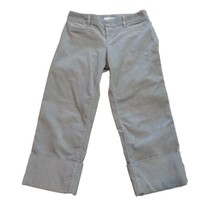 Banana Republic Womens Gray Corduroy Cuffed Capris Pants Sz 2 - $11.88