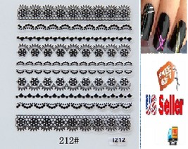 G2:Nail Art Manicure Tips Sticker w/Free 2PCS Rolls Striping Tape Line Nail Tips - $2.97