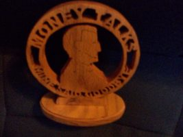 Wooden Money talks display - $20.00