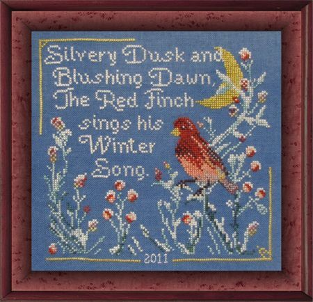 SILK FLOSS PACK for Red Finch's Winter Song Tempting Tangles Dinky Dyes