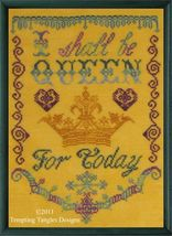 Queen For Today cross stitch chart Tempting Tangles  - $8.55