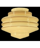 Nu-Gold Glass Art Deco Light Shade Globe Pendan... - $79.95